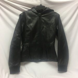 Wilson's Maxima Leather Hooded Jacket Small